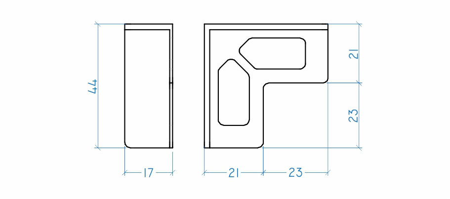 Cantoneira para embalagem 16 mm