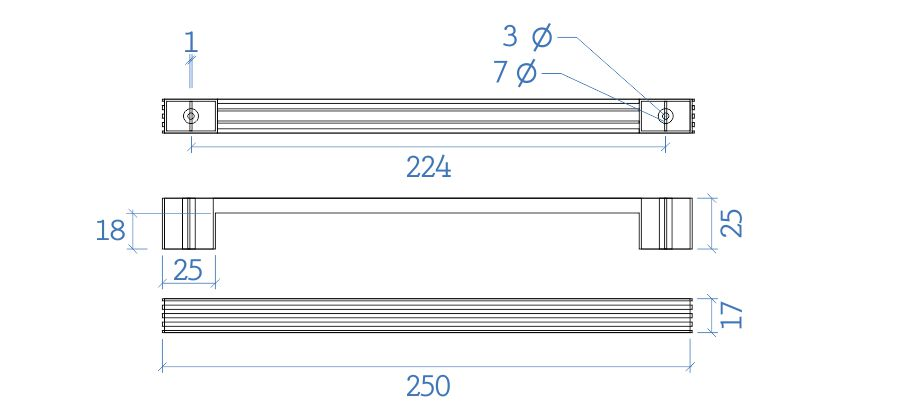Puxador Luxo 224mm