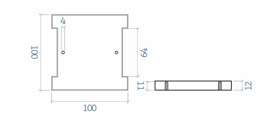 Sapata I 100x100 mm